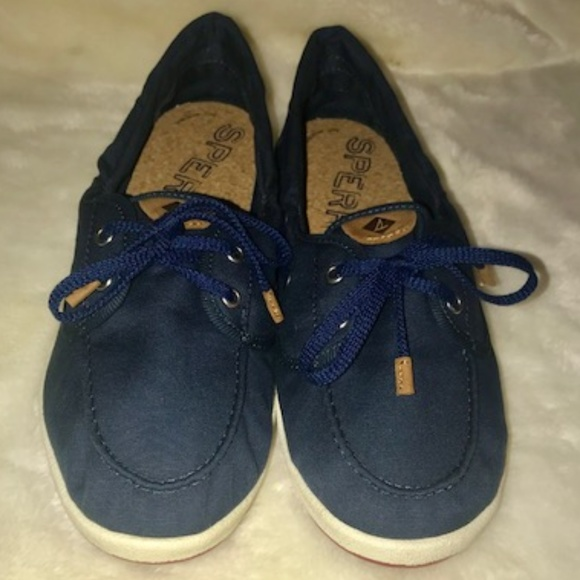d6a079d553ae1 Sperry Navy Drift Hale Boat Shoes NWT